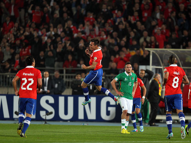 Chile y Bolivia en Clasificatorias a Brasil 2014, 11 de junio de 2013