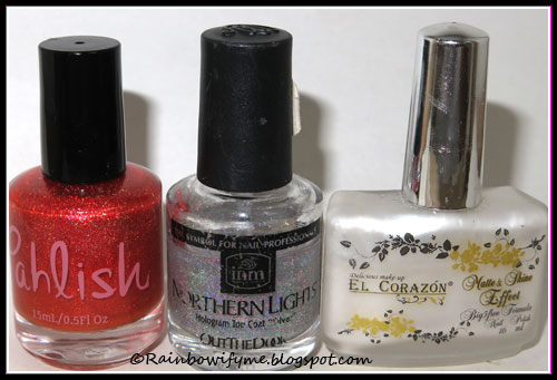 Pahlish: Candy Corn on the Cob; Out the Door: Northern Lights; El Corazón: m&s 172