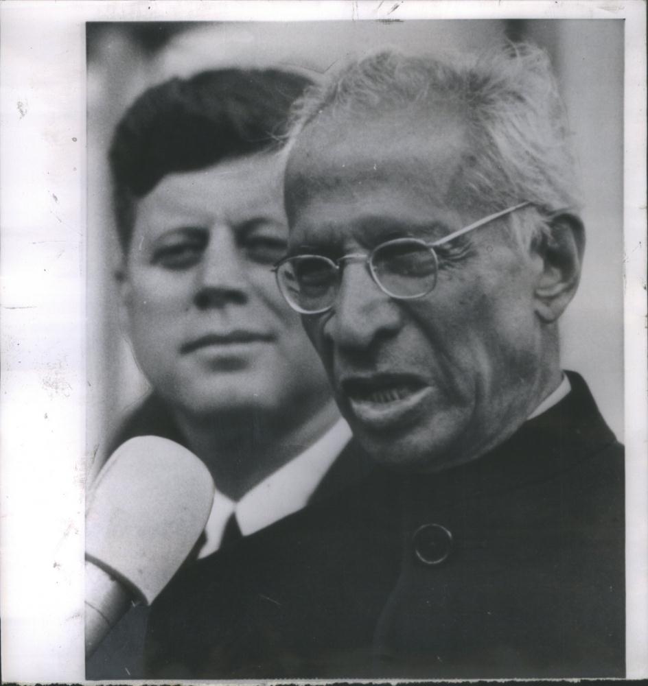 Indian President Sarvepalli Radhakrishnan with American President John F. Kennedy - 1963