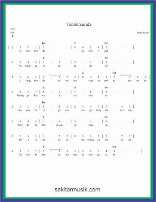 not angka tanah sunda lagu daerah jawa barat