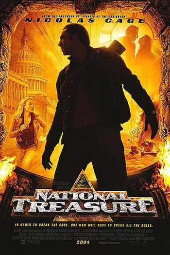 National Treasure 2004 Dual Audio ORG Hindi BluRay 480p 400MB poster