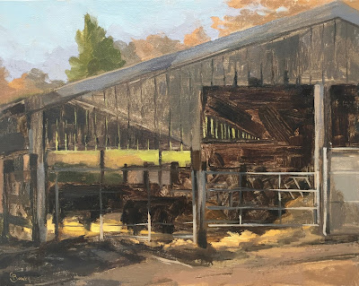 #146 The Barn, Woolfords Farm 9.5×12″