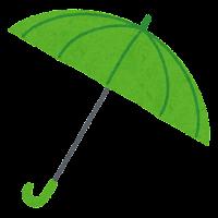 傘のイラスト(緑)