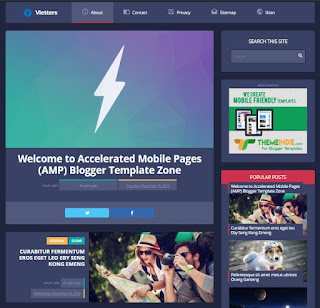Vletters Amp Blogger Template 1- kanalmu