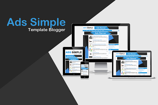 Ads Simple Responsive Blogger Template