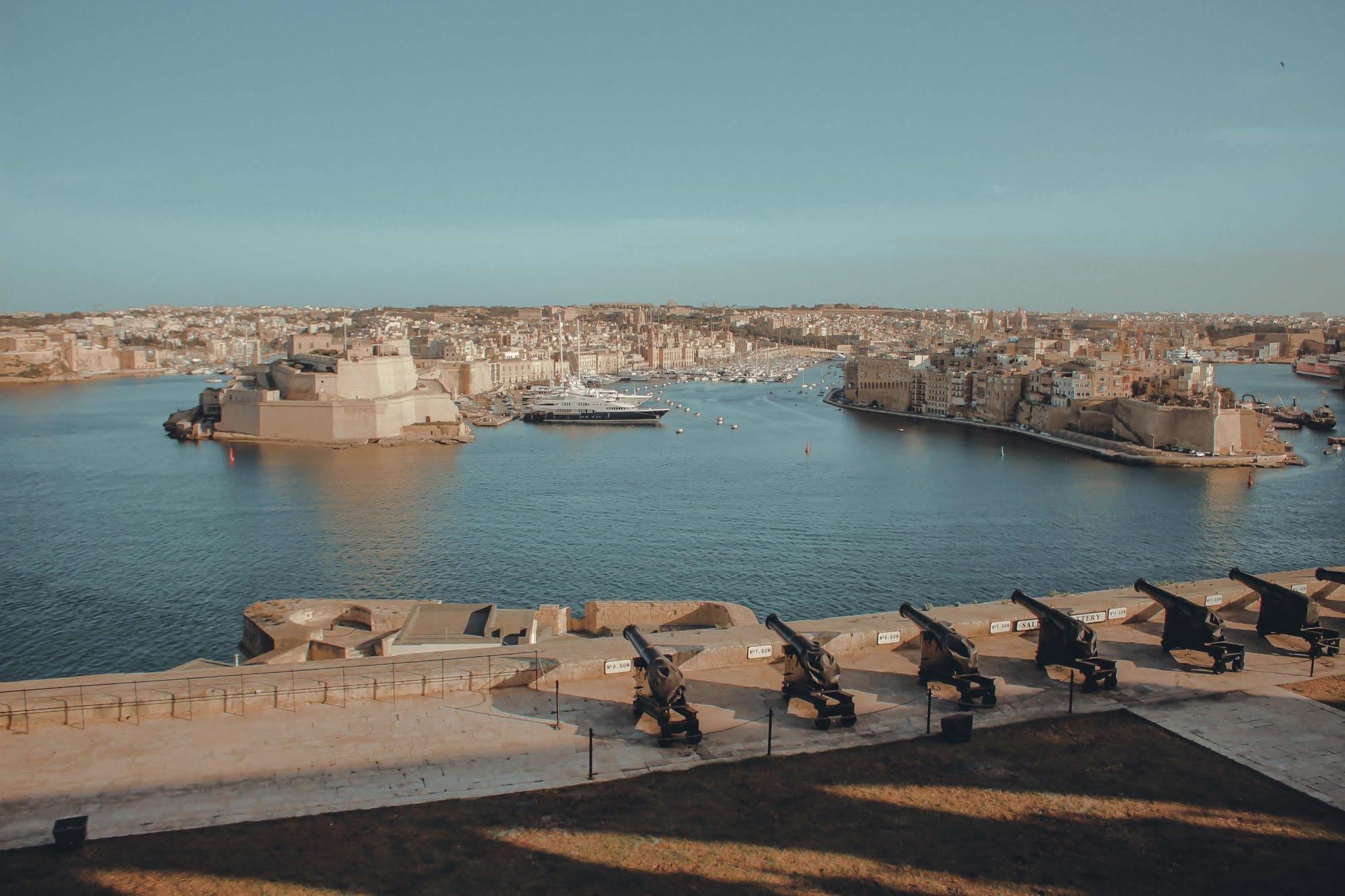 Malta Valetta Salutschüsse