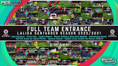 Entrance LaLiga Santander 2020/21 PES 2017