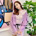 Purple is the color of the day for Jessica Jung!