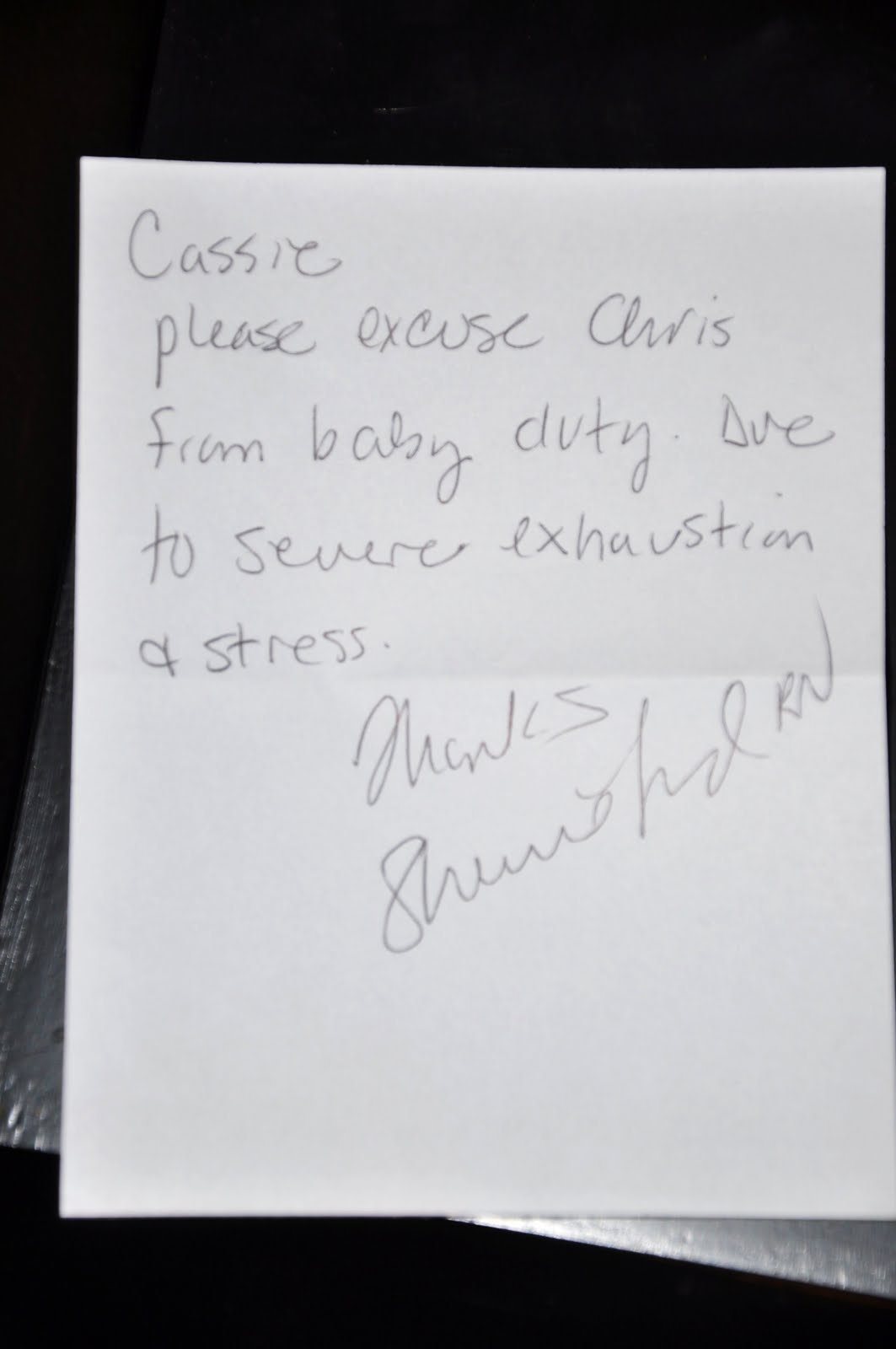 Doctors Note For Stress