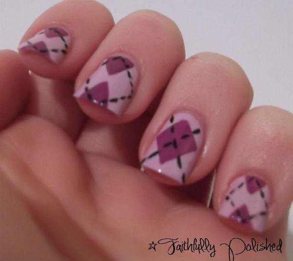 Nail Art February Challenge: Faithfully Polished: February Nail Art Challenge: Pattern