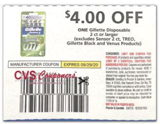 razor cvs coupon