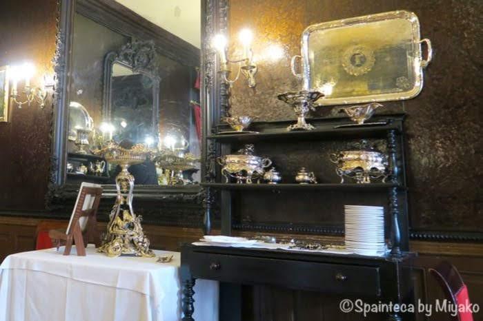 Lhardy マドリードの老舗コシード店の豪華でアンティークな銀食器
