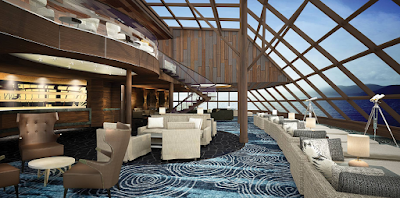 HAVEN OBSERVATION LOUNGE на борту нового Norwegian Bliss NCL для круизов по Аляске