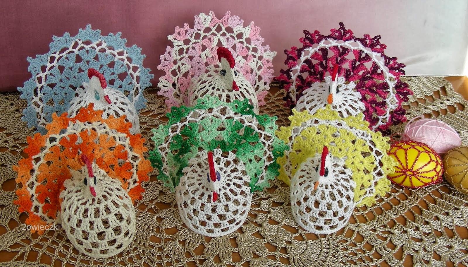 Kufer Z Artystycznym Rękodziełem Wielkanocne Szydełkowanie