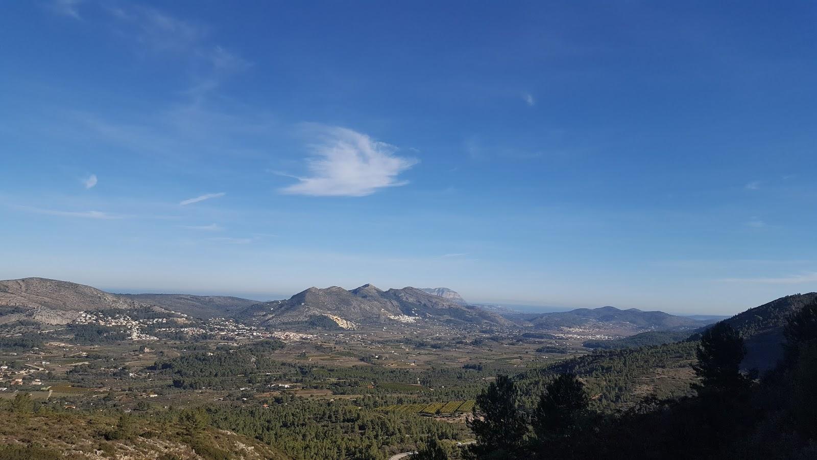 Pop Valley seen from Coll de Rates, Alicante, Spain