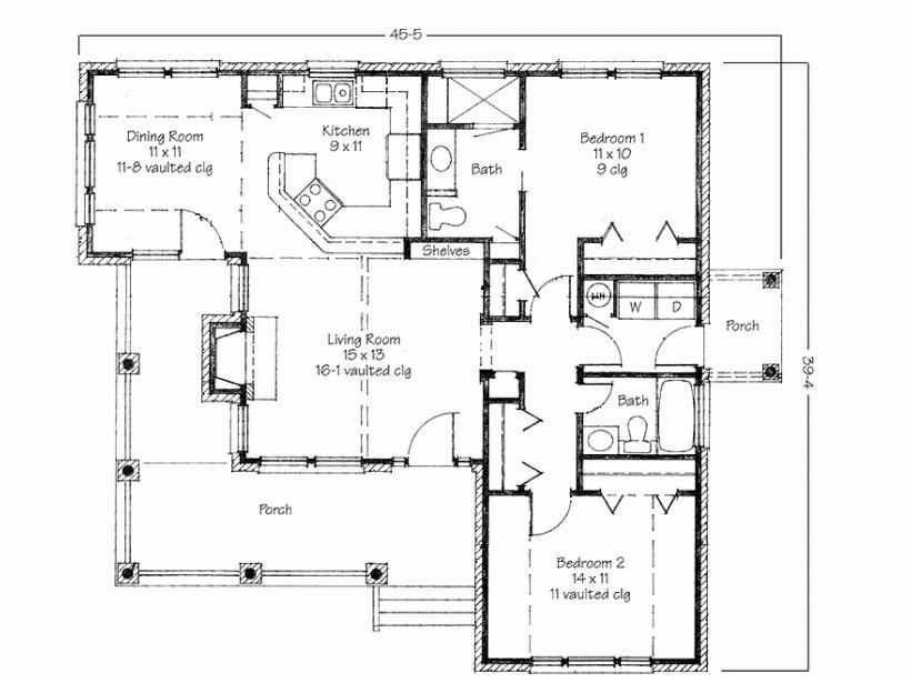 Home Design Ideas Free Download: خرائط منازل بتصميم بسيط