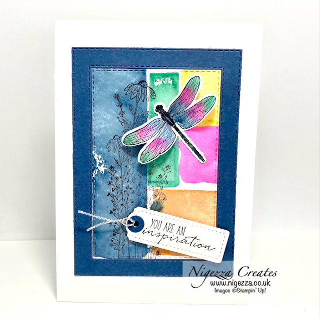 Simple Water Colour Block Card