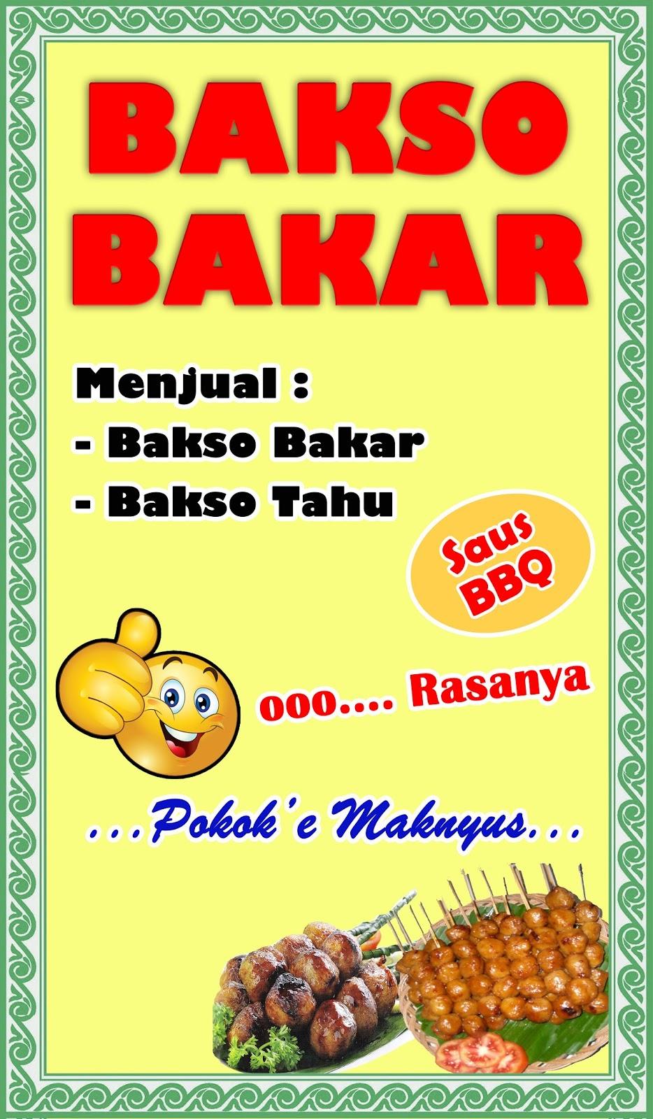 Banner Tahu Bakso Contoh Desain Spanduk