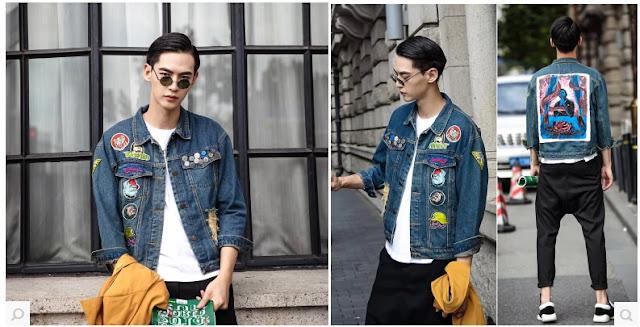 Look Masculino com Patches na jaquet
