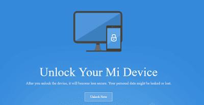 Unlock Bootloader Mi3