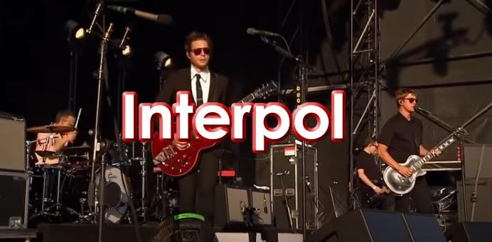 Interpol banda de Rock en Concierto
