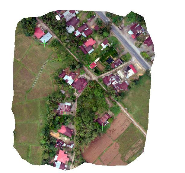 Cara Koreksi Geometri Foto Udara Peta hasil drone