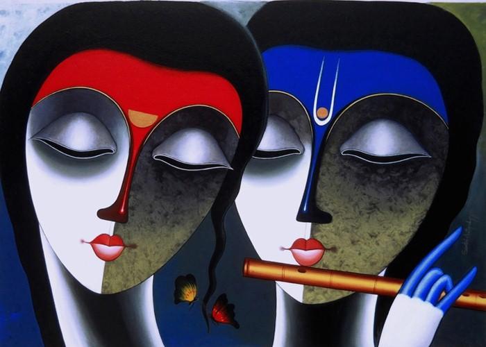 Индийский художник. Santosh Chattopadhyay 13