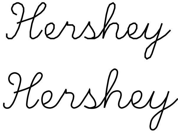 My scrapping inspiration: Hershey Script 1-stroke as ttf