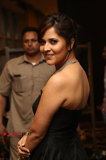 Telugu Anchor Actress Anasuya Bharadwa Stills in Strap Less Black Long Dress at Winner Pre Release Function  0034.jpg