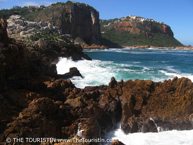 The Knysna heads at the entrance of the Knysna lagoon in South Africa