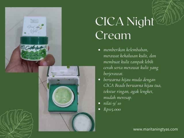 centella asiatica series night cream npure