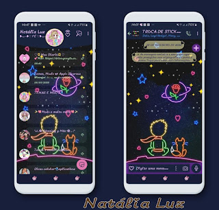 Flowers & Star Theme For YOWhatsApp & Fouad WhatsApp By Natalia Luz