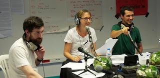 Alexia Pariollaud à l'antenne de web radio la Fourmilliaire Aubagne
