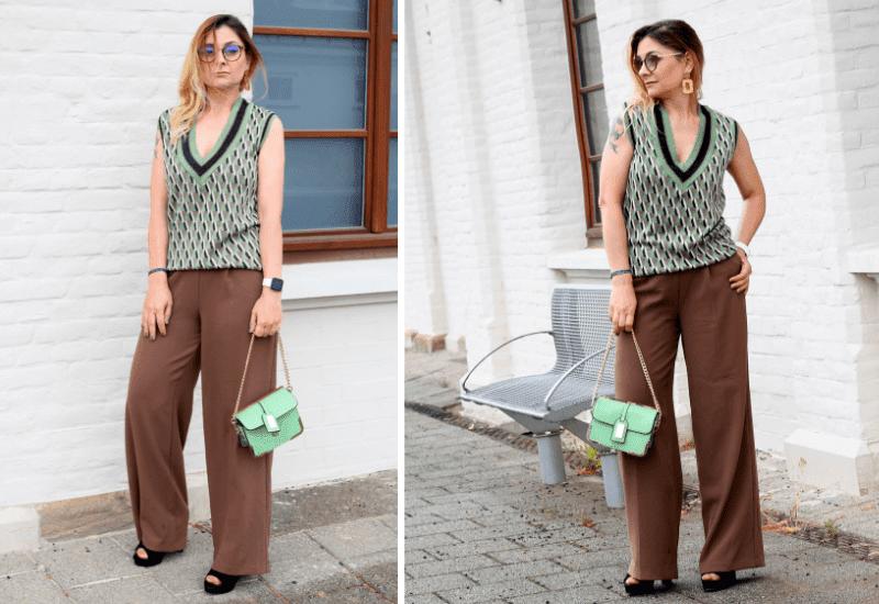 Braun-kombinieren-Outfit-weite-Hose