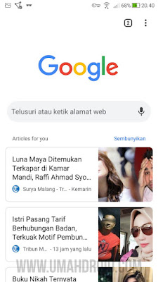Article for You Chrome Android