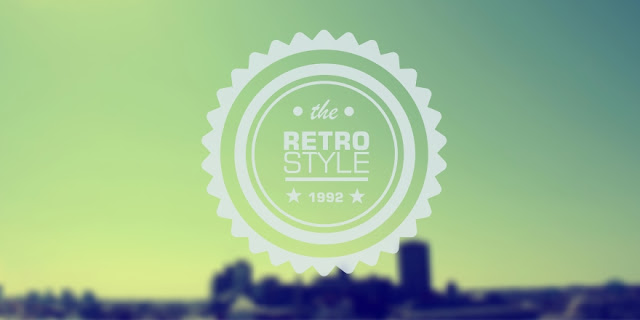 Hasil Dari Membuat Logo Retro Vintage Blurred Menggunakan CorelDRAW