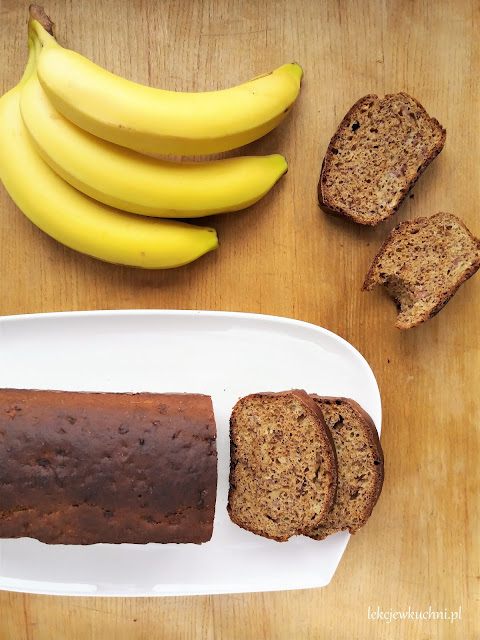 Zdrowe ciasto bananowe bez tłuszczu, FIT  / Healthy No Oil Banana Bread