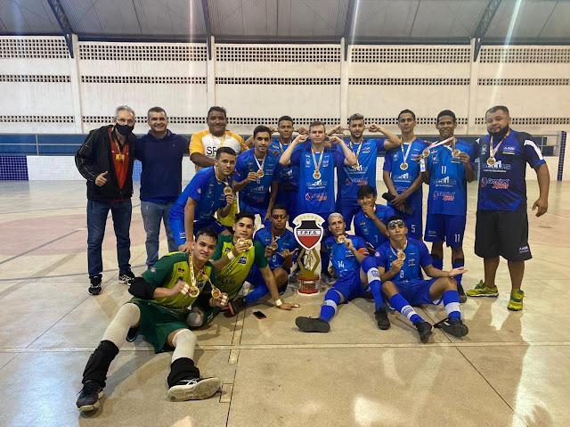 Equipe Sub-20 da AABB Patos - PB, vence o Boi Bravo de virada e é tricampeão do Campeonato Paraibano de Futsal Sub-20