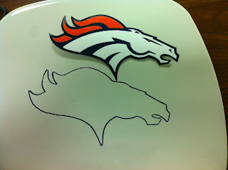 Make your own Denver Bronco Logo Decorative Plate