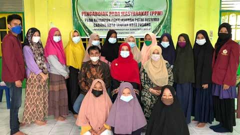 Tim PPM UM Sumbar bersama pengelola Panti Asuhan Aisyiyah Koto Tangah