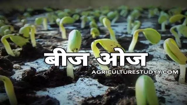 बीज ओज क्या है इसे प्रभावित करने वाले कारक एवं बीज ओज परीक्षण की विधियां, बीज ओज की परिभाषा, defination of seed vigour in hindi, seed vigour in hindi