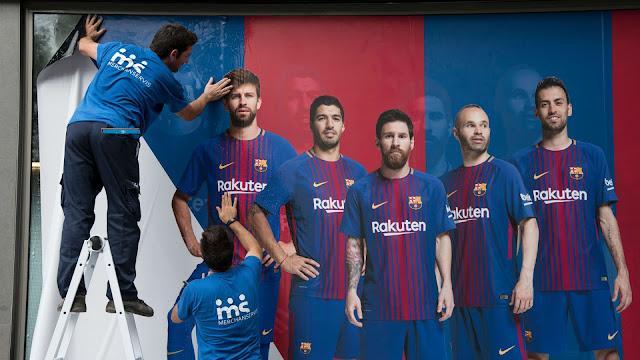 Poster Neymar Di Camp Nou