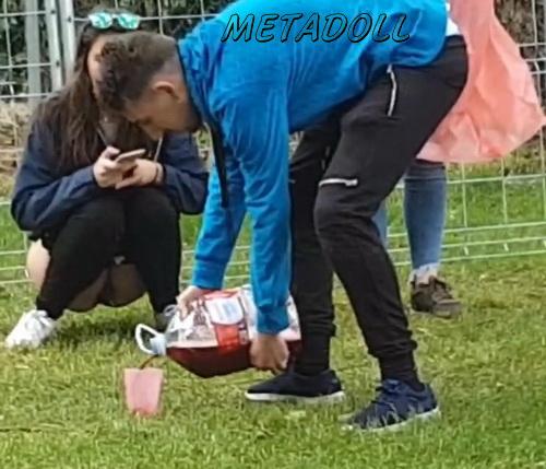 Girls Gotta Go 43 (Spain street festival pissing voyeur - Drunk girls peeing at a public festival)