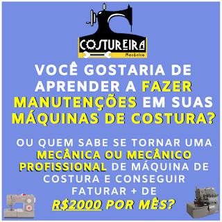 Curso Online de Costureira Manutenção Mecânica - Corretiva/Preventiva