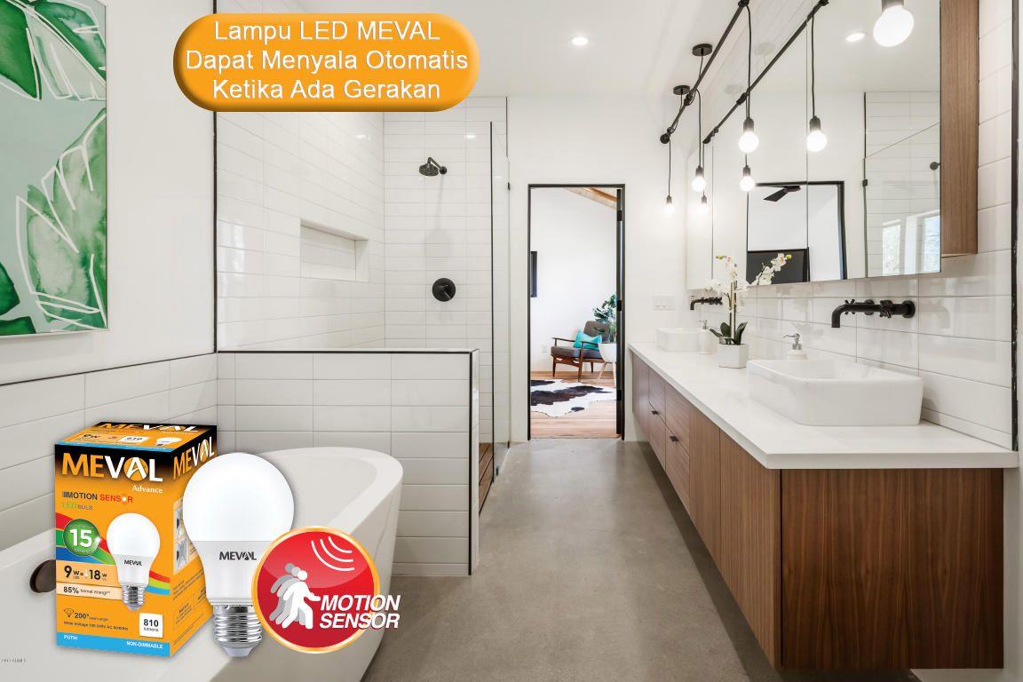 Lampu LED Meval Motion Sensor