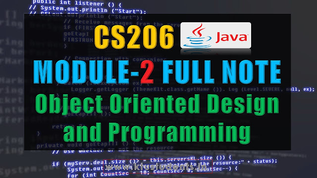 Module 2 Note-CS206 [JAVA]