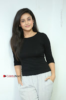 Telugu Actress Mishti Chakraborty Latest Pos in Black Top at Smile Pictures Production No 1 Movie Opening  0244.JPG