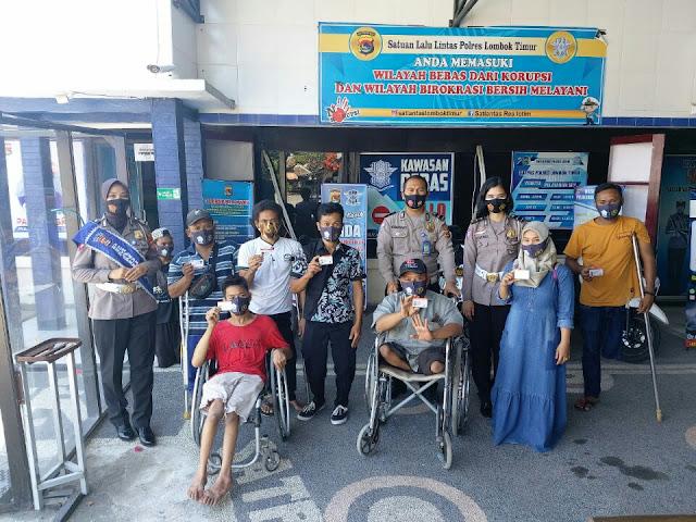 Satlantas Polres Lotim layani penerbitan SIM D untuk disabilitas
