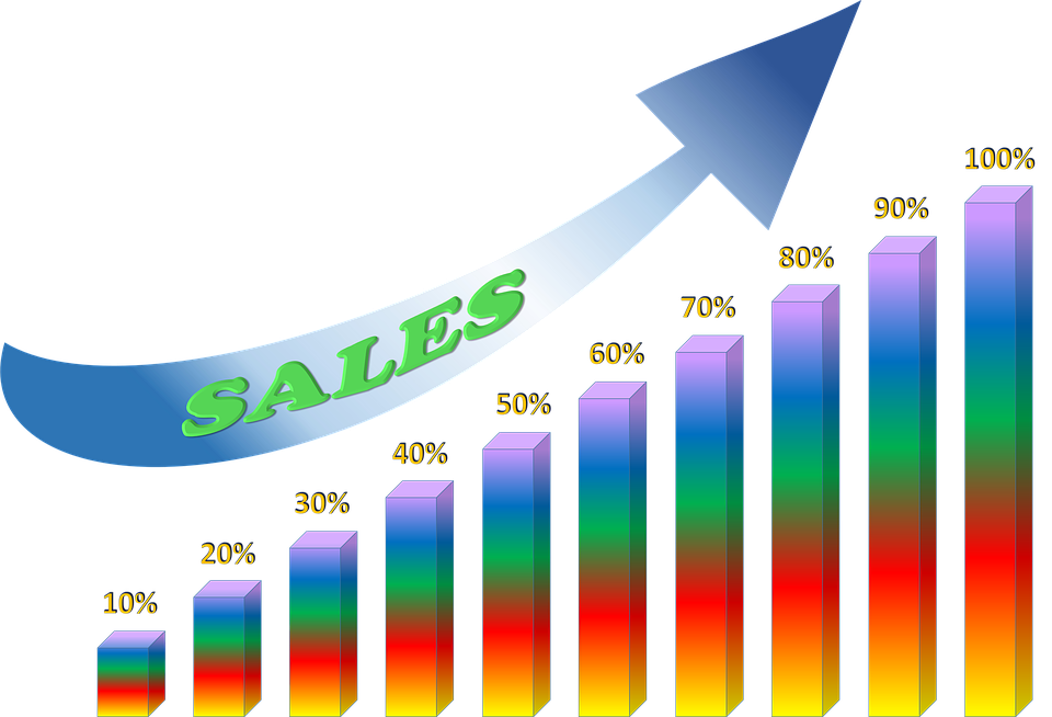 sales boosting graphic with arrow