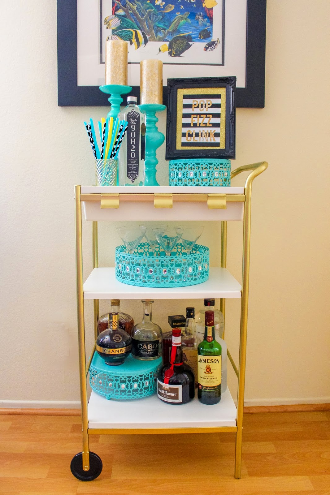 Ikea Hack Diy Gold Bar Cart